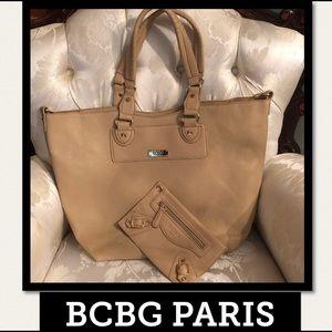 BCBG PARIS 2 Piece Convertible Bag Color Stone